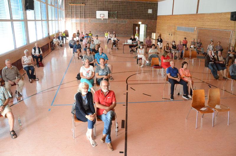 Die Egauhalle in Corona-Belegung
